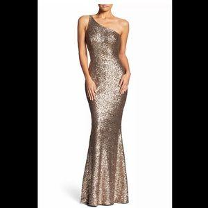 Dress the Population Bronze Mermaid Gown